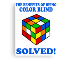 The Benefits Of Being Color Blind Canvas Print