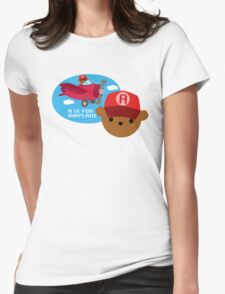 """ABC Bears """"A is for Airplane"""" Womens Fitted T-Shirt"""