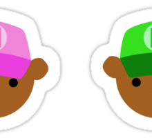 ABC Bears set - G to L - small stickers Sticker