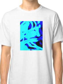 Blue Light Wave,abstract Classic T-Shirt