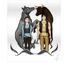Arya and Gendry - ASOIAF Poster