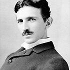 Nikola Tesla Portrait by TilenHrovatic