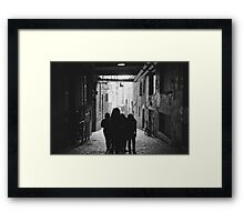 Post Alley Group Framed Print