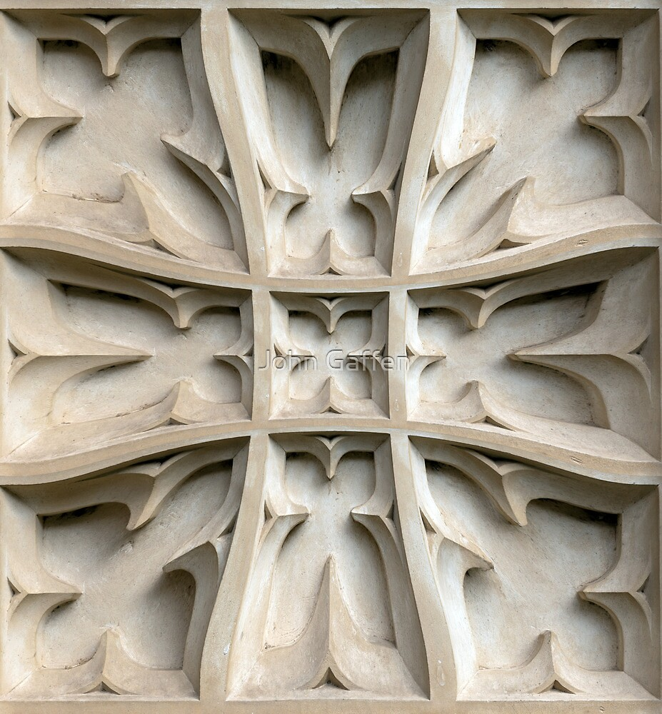Its carved in stone! by John Gaffen