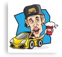 RED CUP Justin Bieber #redcupcrew Canvas Print