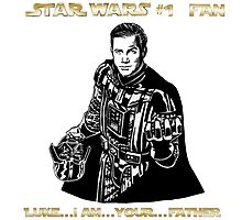 Star Trek Wars sci-fi homage  Photographic Print