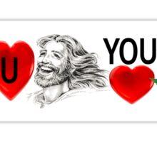 Jesus Loves Weed Sticker