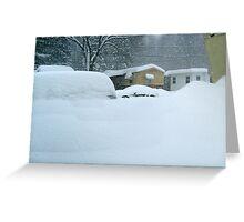My Van is Somewhere Under That Snow.... Greeting Card