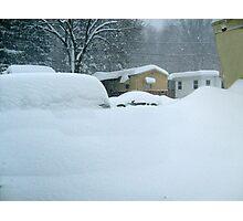 My Van is Somewhere Under That Snow.... Photographic Print