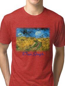 Vincent Van Gogh - Wheat Field Under Threatening Skys Tri-blend T-Shirt