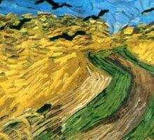 Vincent Van Gogh - Wheat Field Under Threatening Skys Sticker