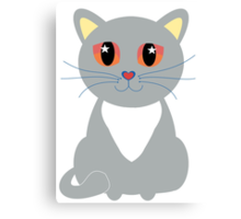 Only One Gray Cat Canvas Print