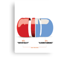 Red or Blue Pill Canvas Print