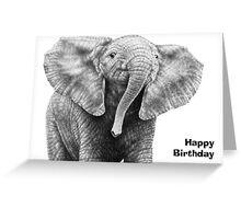 Baby African Elephant Birthday Card Greeting Card