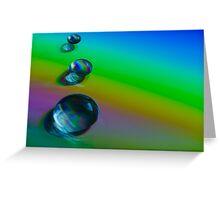 Droplet Rainbow Greeting Card