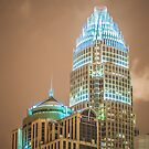 charlotte skyscrapers closeup by Alexandr Grichenko