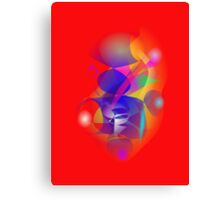 Blue Man in Africa Canvas Print