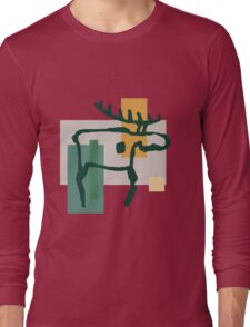 Prehistoric Moose From Finland Long Sleeve T-Shirt