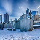 charlotte city skyline behind romare bearden park by Alexandr Grichenko