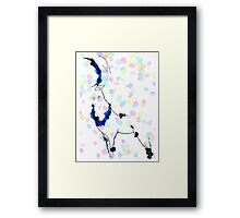Stag in the Snow Framed Print