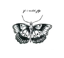 If I Could Fly Butterfly Drawing :) by mayasinfinity