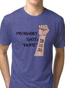 Bad Decisions (It says Brocolli) Tri-blend T-Shirt