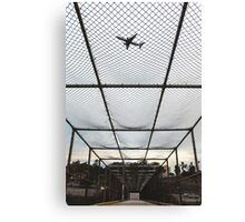 Overpass Airplane San Diego Canvas Print
