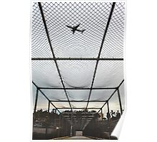 Overpass Airplane San Diego Poster