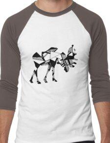 Timid Minimalist Graphic Moose Men's Baseball ¾ T-Shirt