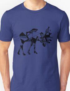 Timid Minimalist Graphic Moose Unisex T-Shirt