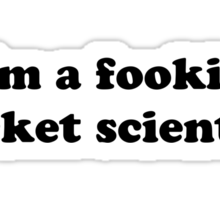 i'm a fookin rocket scientist Sticker