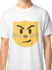 Cat face with wry smile emoji Classic T-Shirt