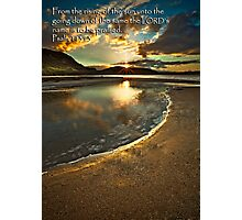 His Name Be Praised Photographic Print