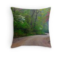Spring Curves Throw Pillow