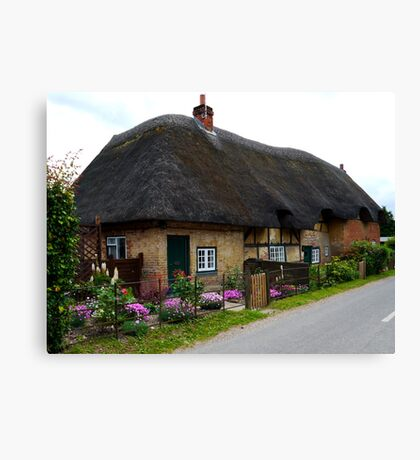 A Charming Cottage at Leckford Canvas Print