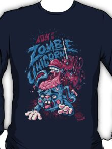 Zombie Unicorn Attacks T-Shirt
