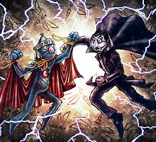 Super Grover vs. The Count by Jose Gomez