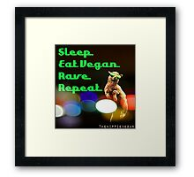 Vegan rave Framed Print