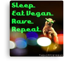 Vegan rave Canvas Print