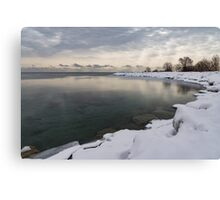 Translucent Winter - Small Cove Snowy Morning Canvas Print