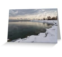 Translucent Winter - Small Cove Snowy Morning Greeting Card