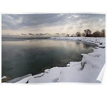Translucent Winter - Small Cove Snowy Morning Poster