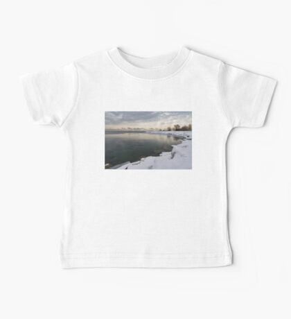 Translucent Winter - Small Cove Snowy Morning Baby Tee