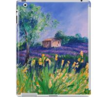 Lavender Field With Yellow Flowers painting iPad Case/Skin