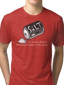 PJSalt V2 (white text) Tri-blend T-Shirt