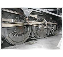 steam train wheels Poster