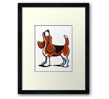 Tricolor Beagle Bay Framed Print