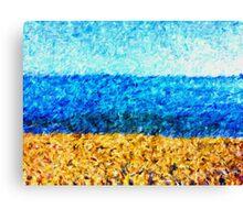sea sky sand Canvas Print