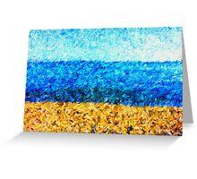 sea sky sand Greeting Card