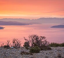 Fiery Sunrise - Island of Cres, Croatia by Kellie Netherwood